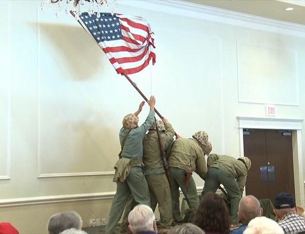 Iwo Jima flag raising reenactment_7169987185428613780