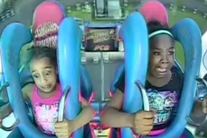 Two Girls Freak Out On The Slingshot Ride_-6175516981396879744