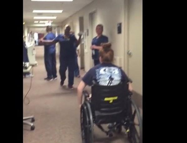 Nurse Reacts to Patient Walking_6946889699467543638