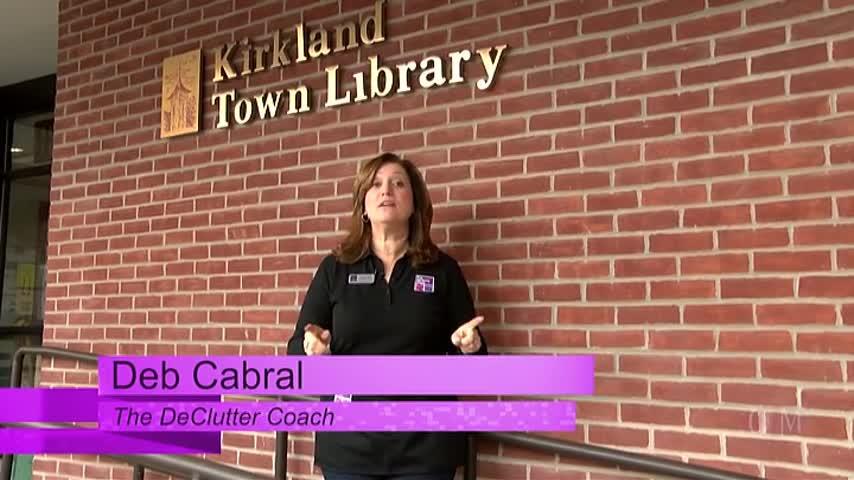 The DeClutter Coach organizes the Kirkland Town Library