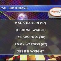 Birthdays & Anniversary 9/20/18