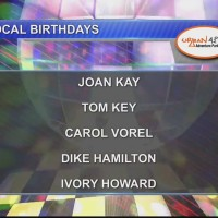 Birthdays & Anniversary 9/25/18