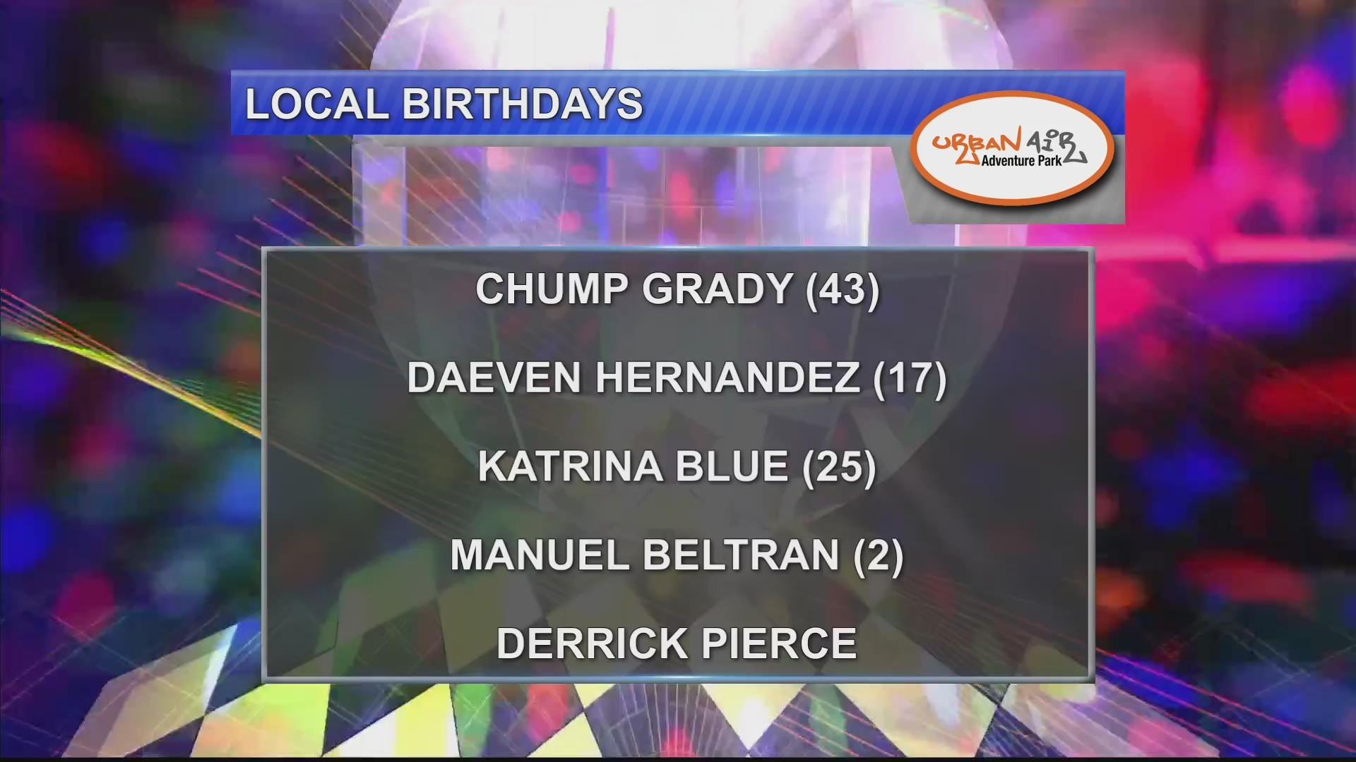 Birthdays & Anniversaries 10/16/18