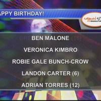 Birthdays & Anniversary 10/1/18