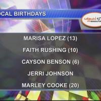 Birthdays & Anniversary 10/23/18