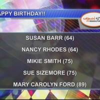 Birthdays & Anniversary 10/4/18