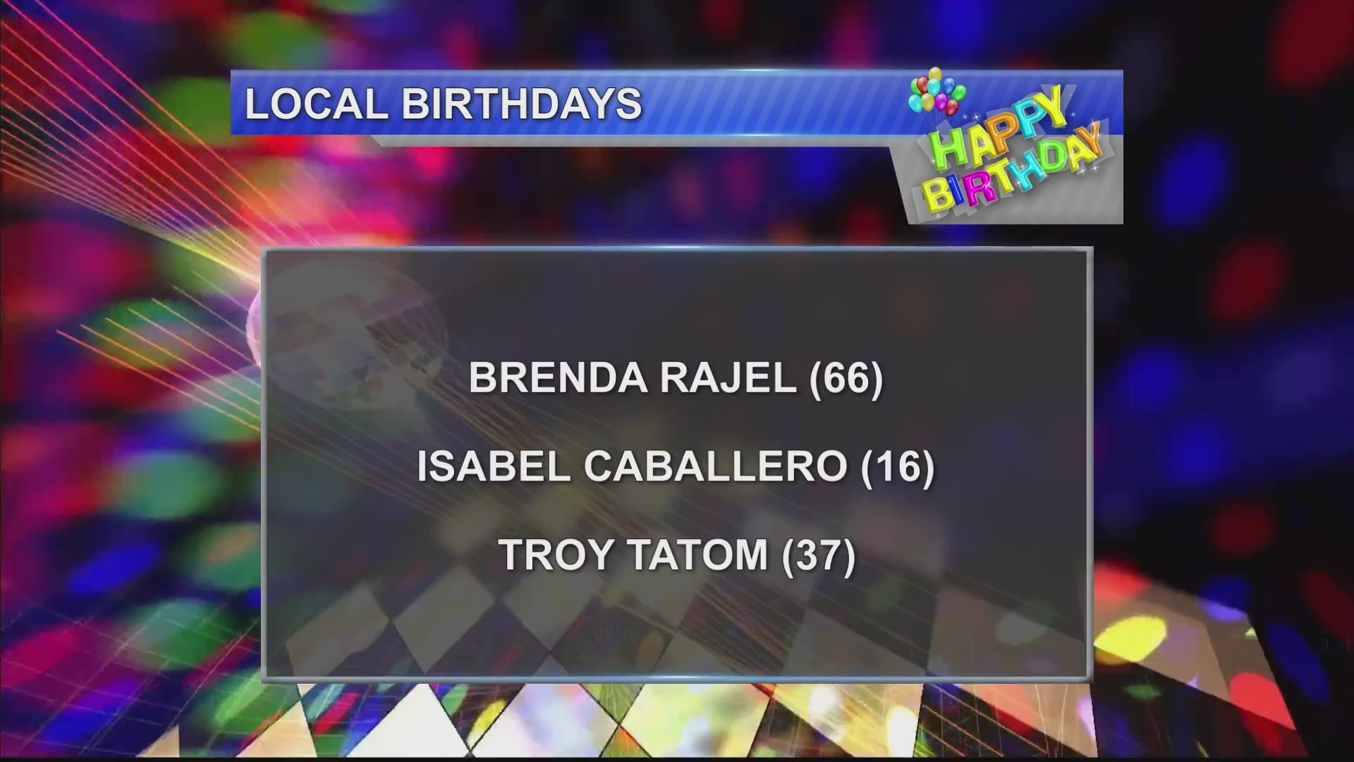 Birthdays 11/5/18