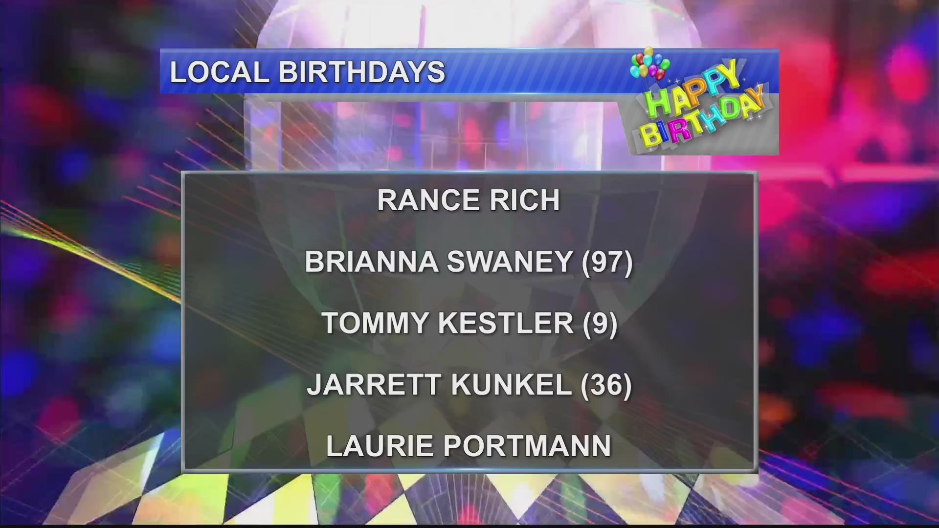 Birthdays & Anniversary 11/14 /18