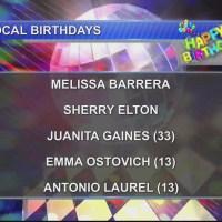 Birthdays & Anniversary 11/8/18