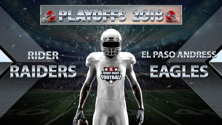 High School Football: Rider vs El Paso Andress - November 23