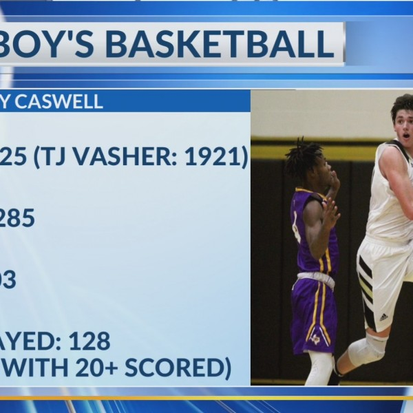 Ty Caswell Rewrites Rider School Record Book- March 5, 2019