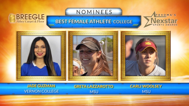 Texoma's Nexstar Sports Awards 2019 Nominees for Best Female College Athlete – June 10, 2019