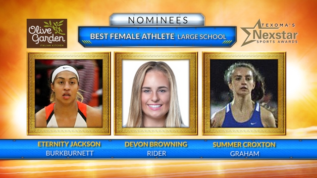 Texoma's Nexstar Sports Awards 2019 nominees for Best Female Athlete from Large School