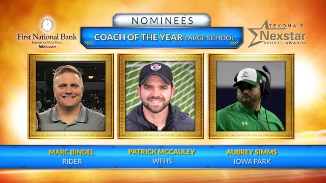 Texoma's Nexstar Sports Awards 2019 Nominees for Large School Coach of the Year