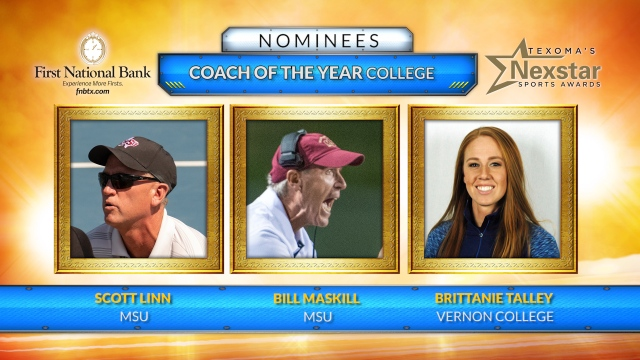 Texoma's Nexstar Sports Awards 2019 Nominees for College Coach of the Year