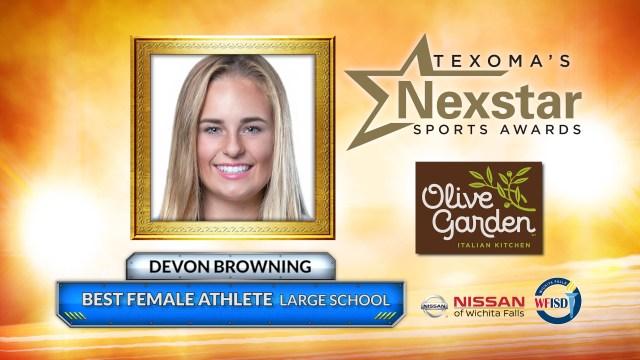2019 Texoma's Nexstar Sports Awards Large School Best Female Athlete