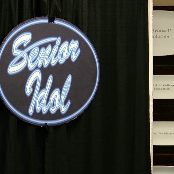 """Seniors gathered for the annual """"Senior Idol"""" at the Red Door Senior Center on Friday."""