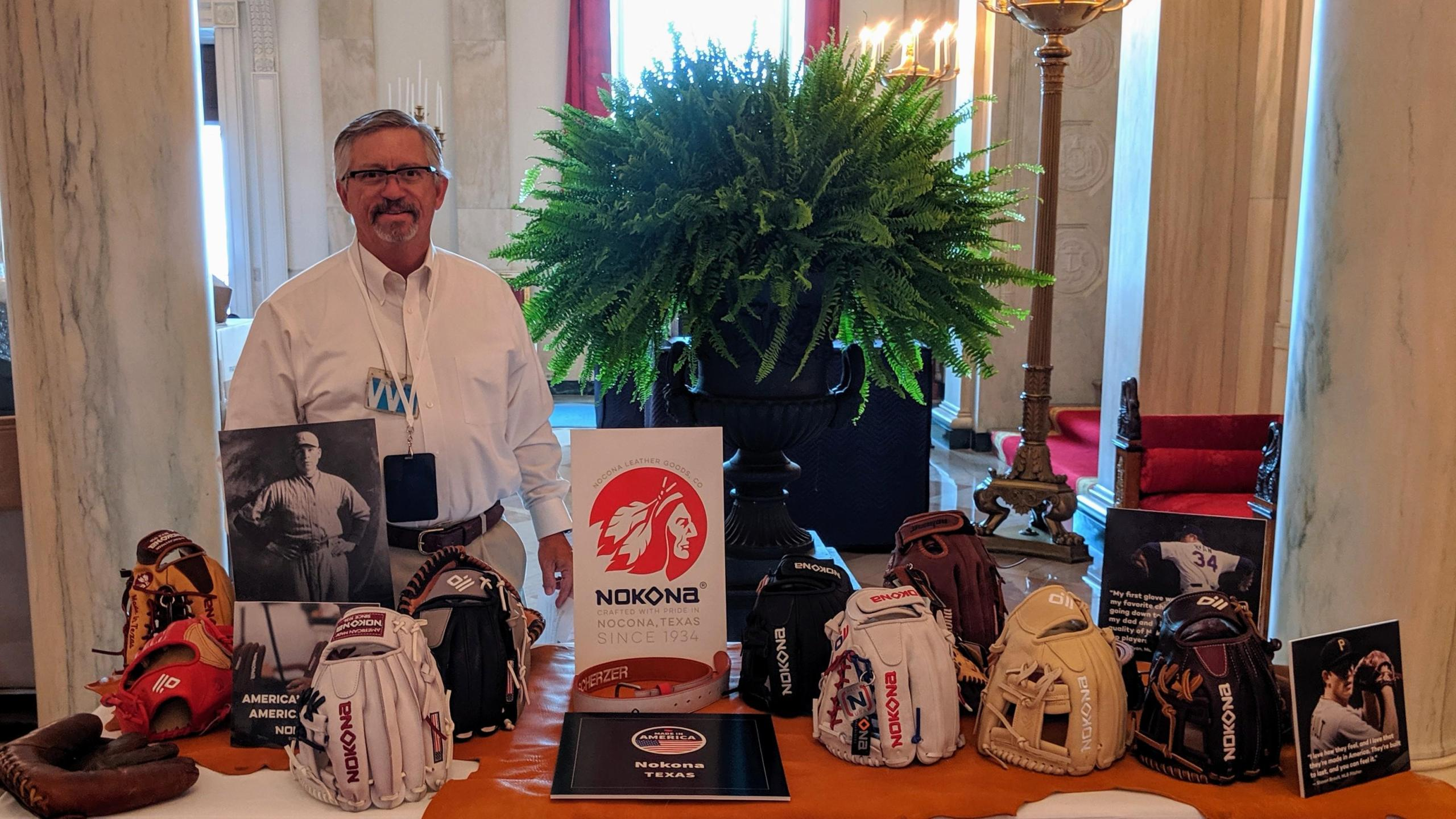 The last remaining American made ball glove company was just recently honored at the White House for the third annual 'Made in America Day' and the company vice president has returned to Nocona full of pride in his family's achievement, and the workers who make the gloves.