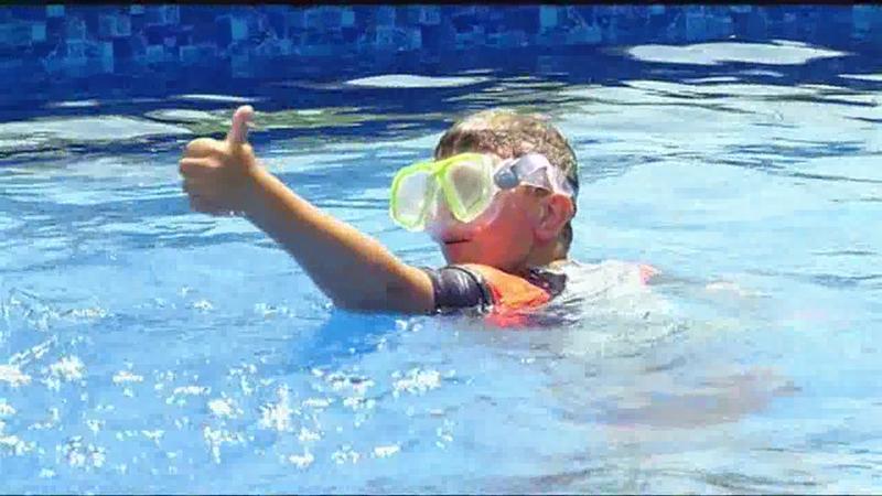 Wish come true: Gates boy gets backyard pool