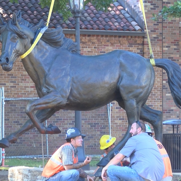 Two more pieces of art have just galloped onto MSU's campus.