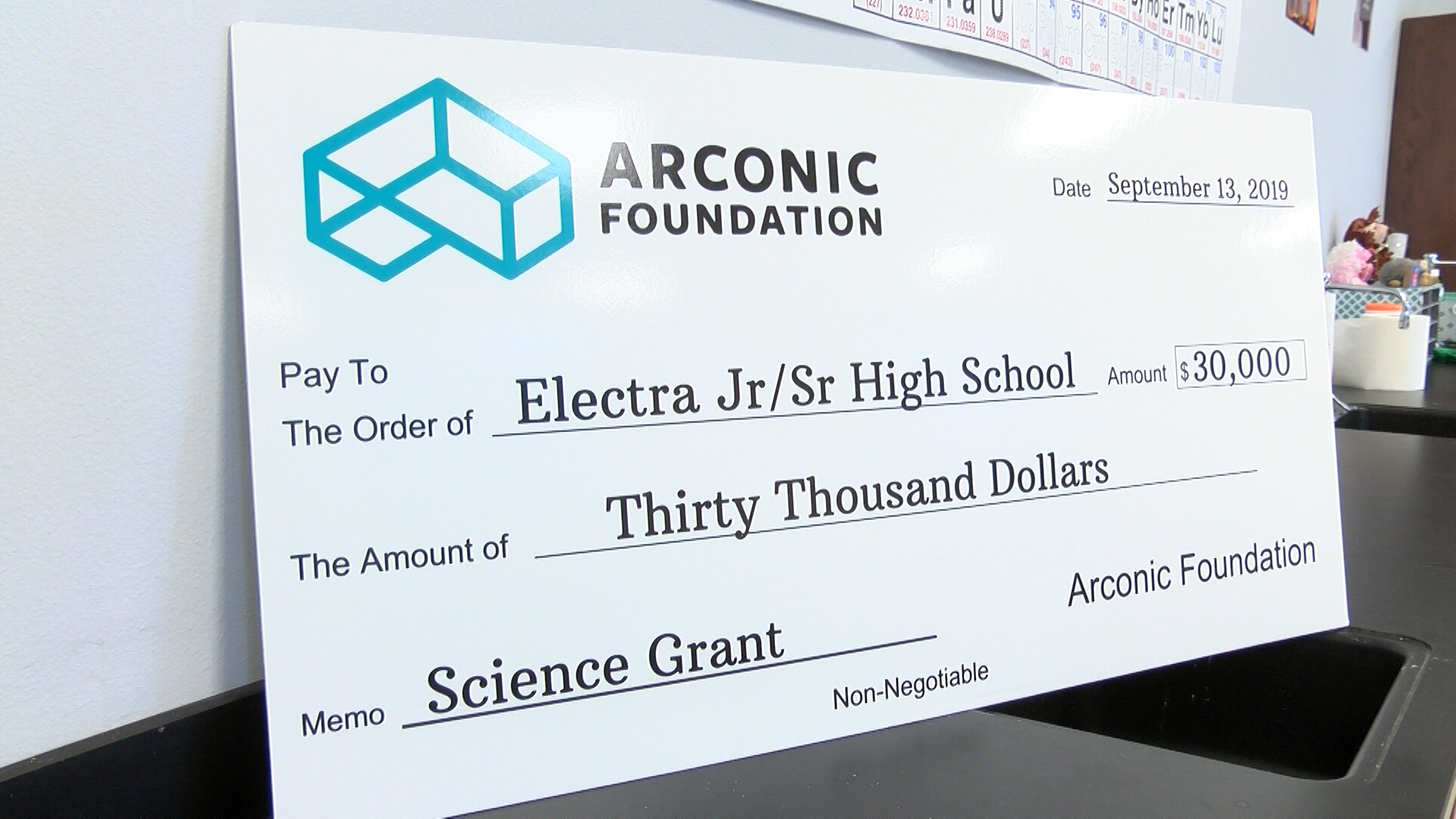 For the first time in a very long time, Electra High School leaders are purchasing new equipment for their science department after being awarded a $30,000 grant.