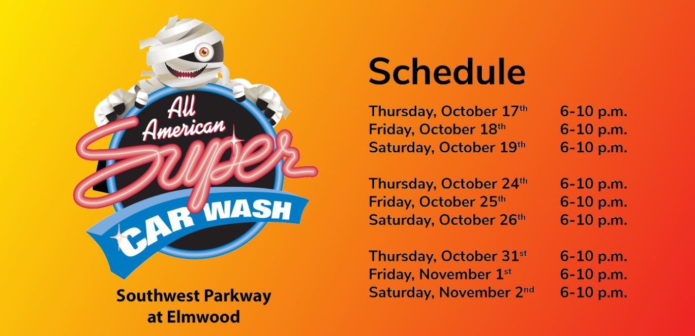 All American Super Car Wash Hosts Haunted Car Wash For P E T S
