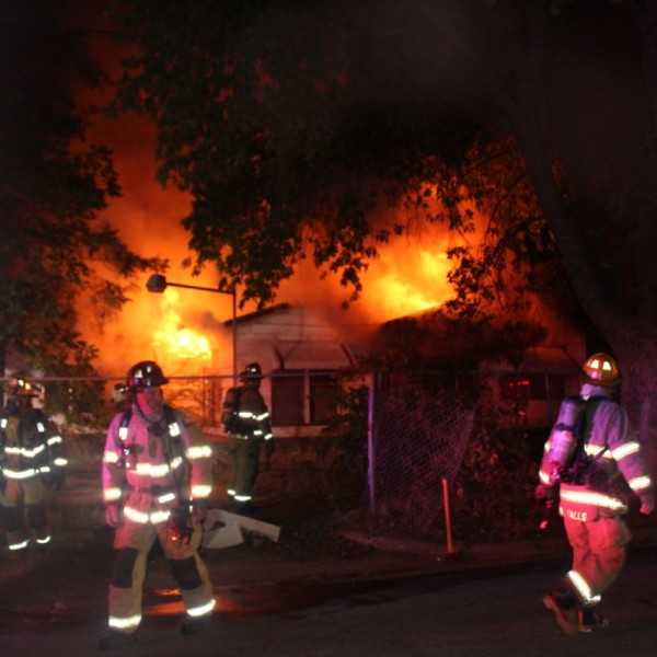 WFFD extinguish a fire at a home on Jasper St. early Tuesday morning.