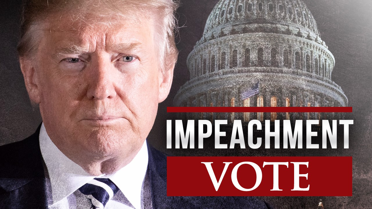 The house voted almost entirely along party lines for two articles of impeachment to remove the president from office, abuse of power and obstruction of Congress