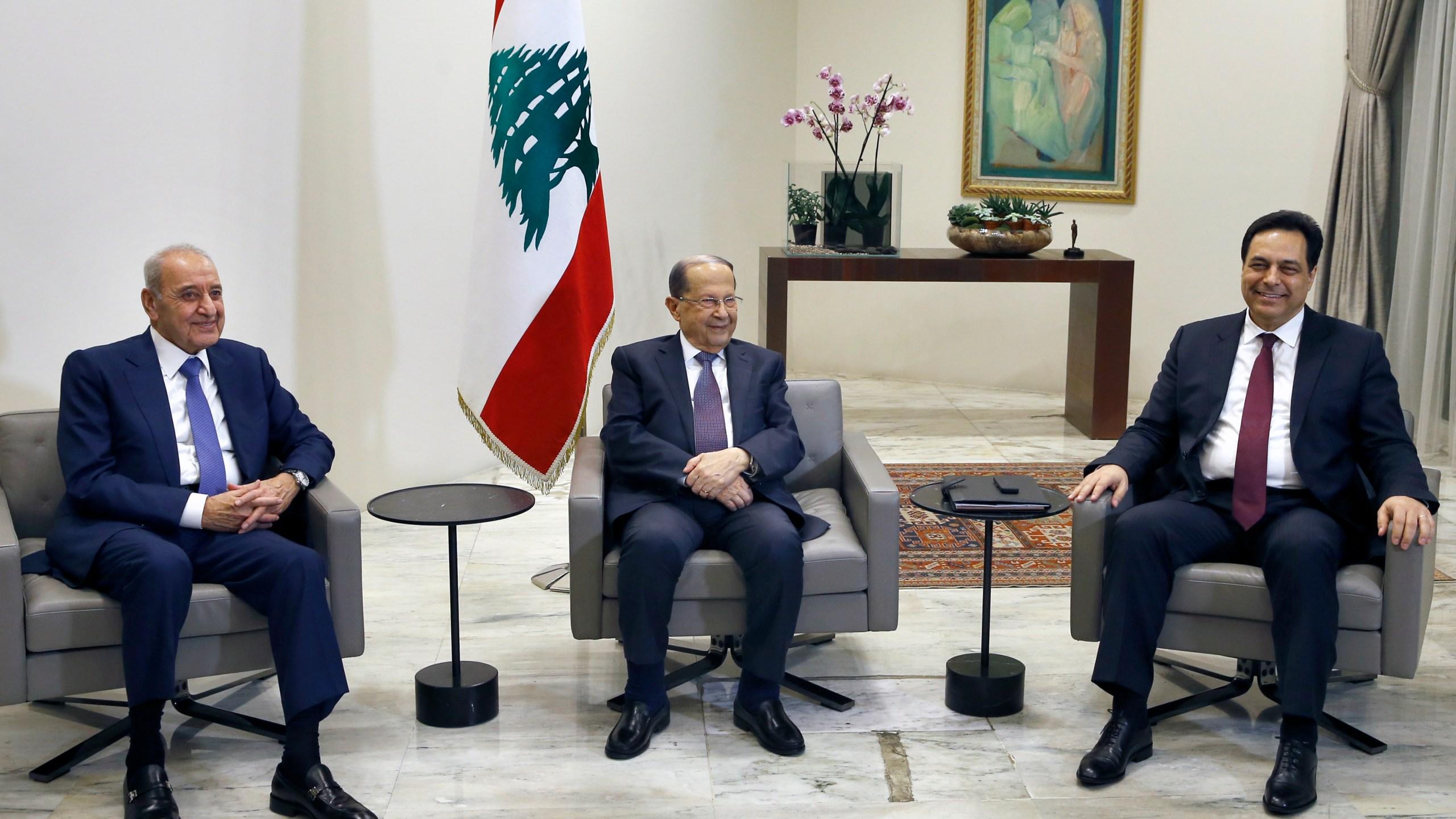 Michel Aoun, Nabih Berri, Hassan Diab