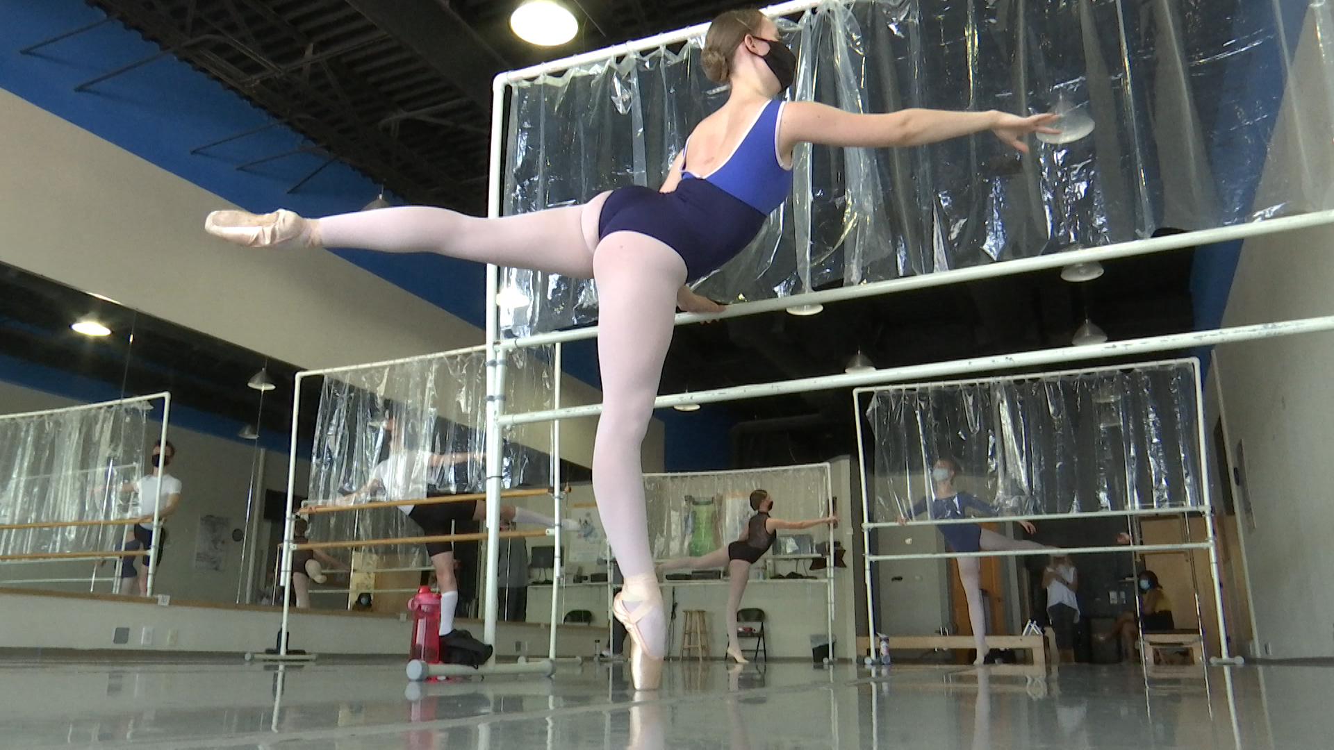 After the continued delays to have physical classes, dancers can now plie and more now that the Wichita Falls Youth Ballet's doors are re-opened.