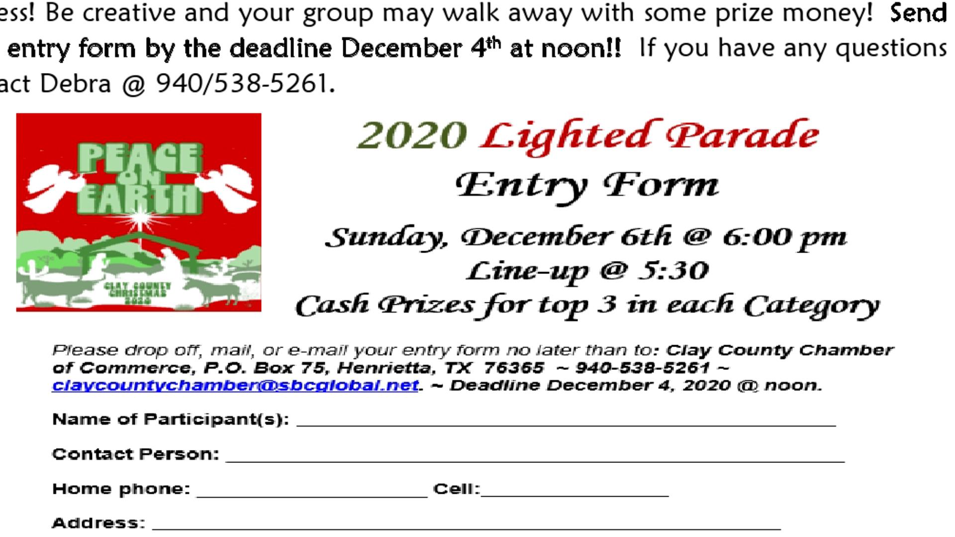 2020 Christmas Walk, December 6 Henrietta Christmas 2020 Lighted Parade | Texomashomepage.com