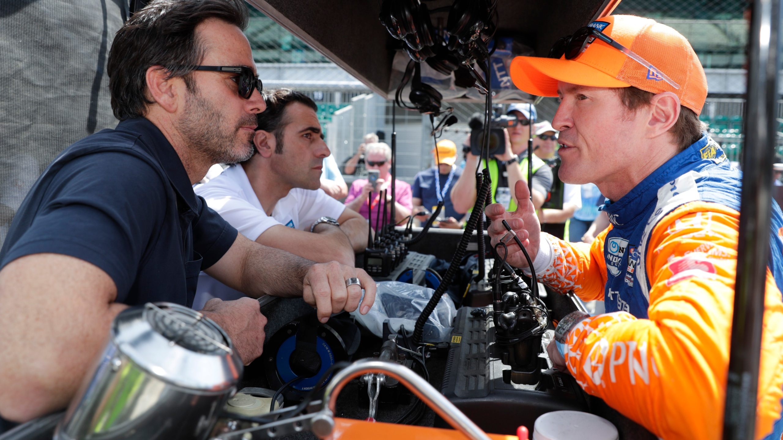 Scott Dixon, Jimmie Johnson, Dario Franchitti