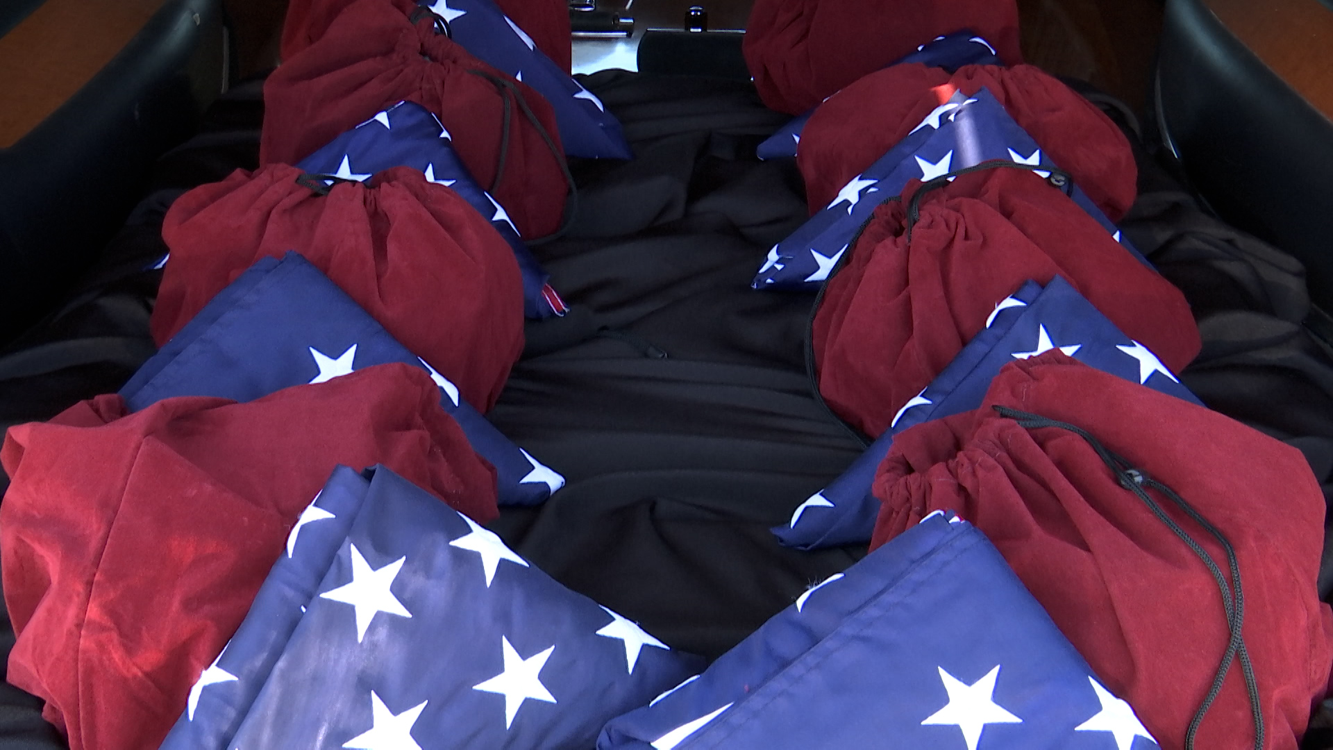 The remains of eight unclaimed veterans passed through Wichita Falls this morning en route from Amarillo to the DFW National Cemetery.