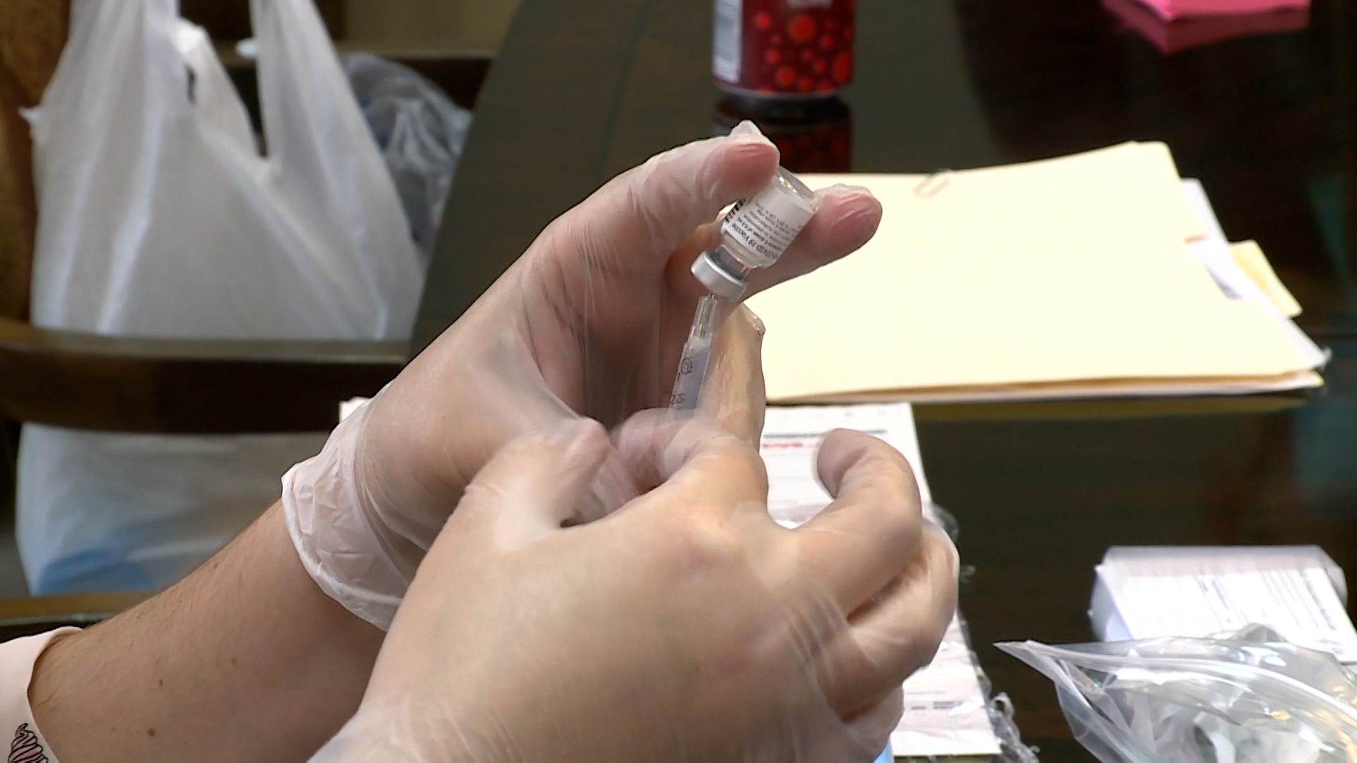 Data shows 29% of the state of Texas is fully vaccinated against COVID-19.