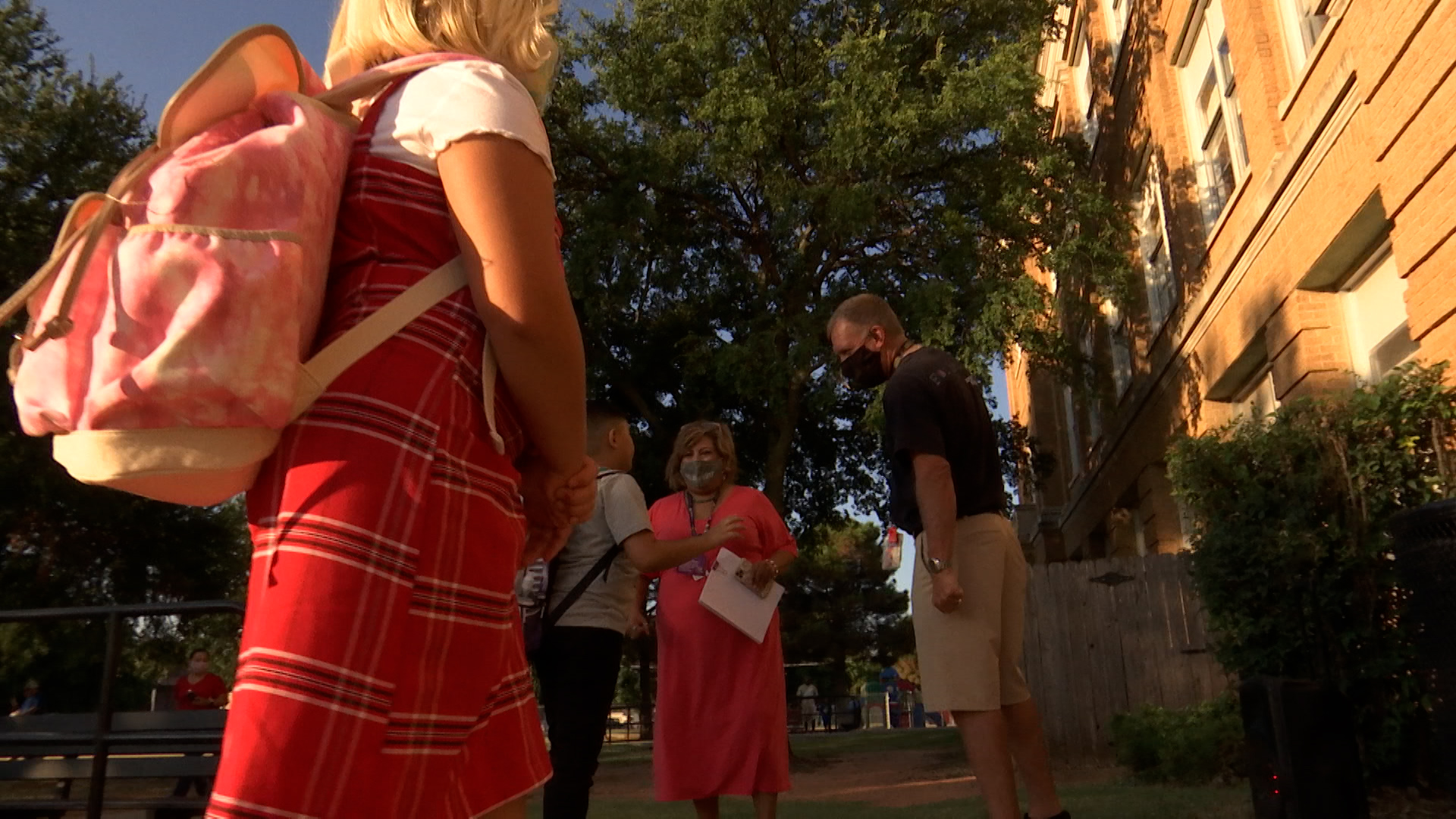 The first bell of the school year rang this morning for Wichita Falls Independent School District students and school leaders said while there is some anxiety because of the unknowns going into this year, they are ready to get back in the classrooms.